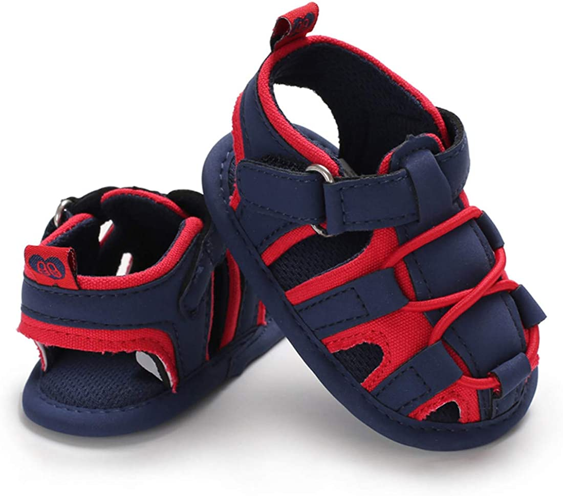 ENERCAKE Baby Boys Sandals Infant Summer Outdoor Shoes Closed-Toe Anti-Slip Toddler First Walker Shoes