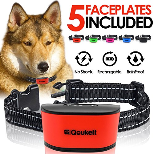 No Bark Collar Humane Barking Collar, Rechargeable No Shock Anti Bark For Small To Medium Dogs, Adjustable Sensitivity Levels | Sound Beep & Vibration Pet Training | Rechargeable Lithium Battery