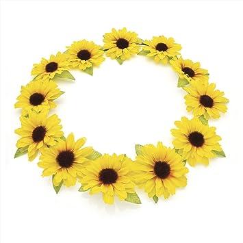 HA28562 Yellow flower crown Headband Bridesmaid Bridal Festival Wedding cbdbdd48bd9