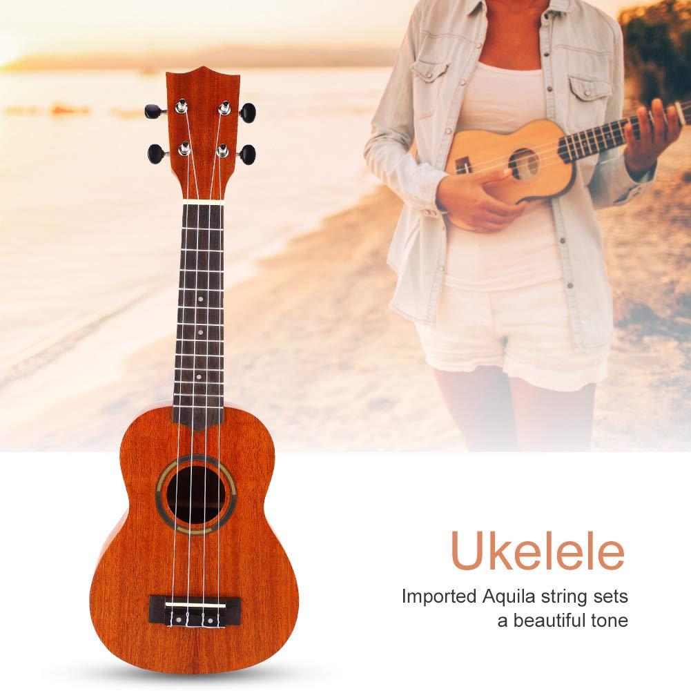 Drfeify 21 Pouces Ukul/él/é en Bois Acajou Hawa/ï Guitare Ukul/él/é pour D/ébutant Enfant
