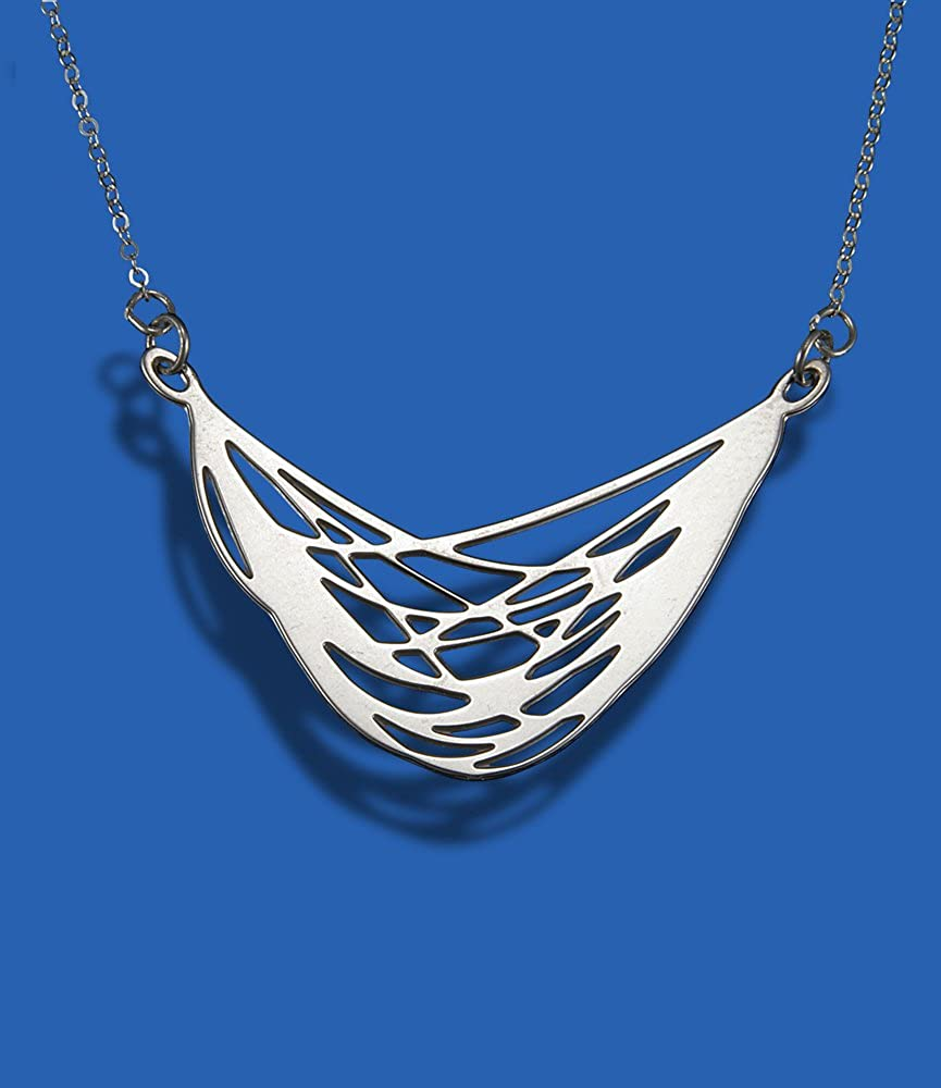 Shira Jewelry Veil Sterling Silver Necklace