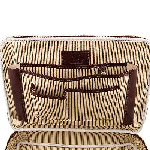 Tuscany Leather - Vicenza - Cartable porte ordinateur avec fermeture glissière - Marron