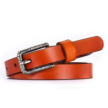 YUEER Cinturones Mujeres Vestidos Cinturones Delgados Pantalones De Cuero  Cinturón Delgados Los Pantalones Vaqueros Largos Adornados 221244dd008b