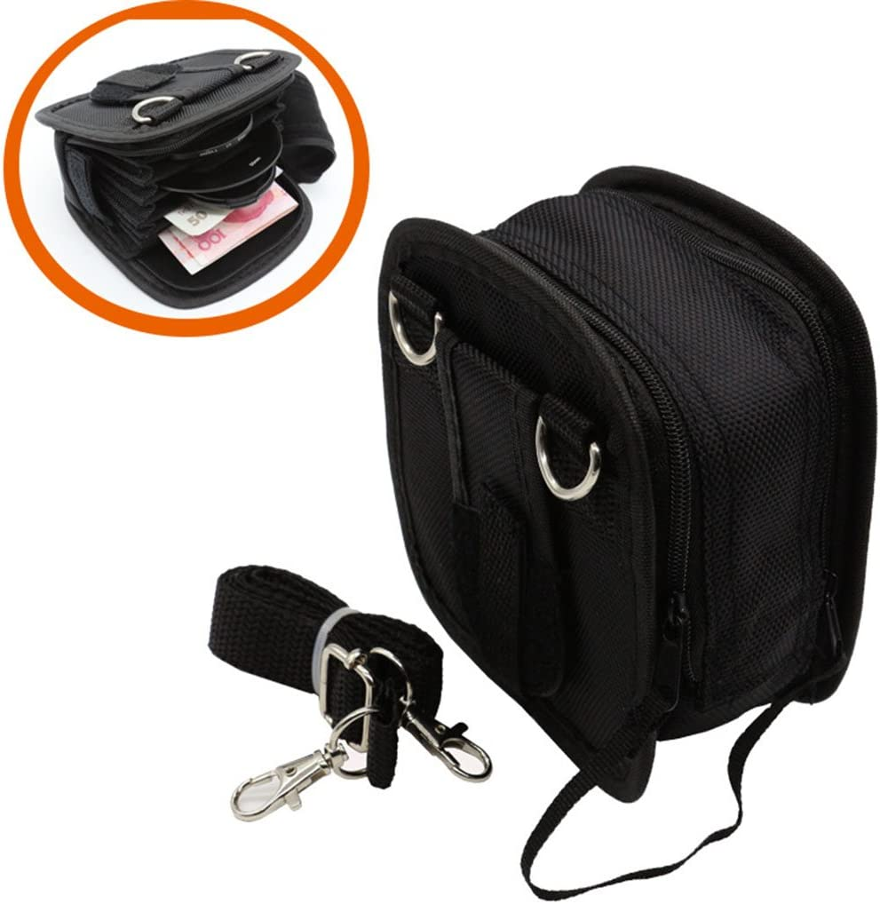 9 Slot Camera Lens Filter Case Carrying Pouch Bag Wallet for 25-95mm Filters