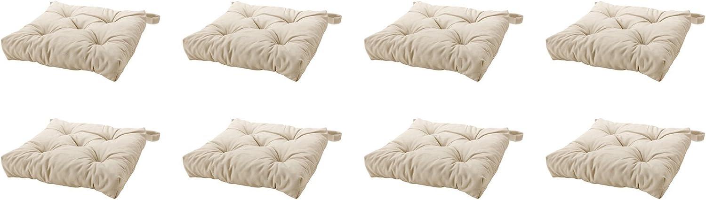 Ikea's MALINDA Chair cushion, light beige-8 Pack