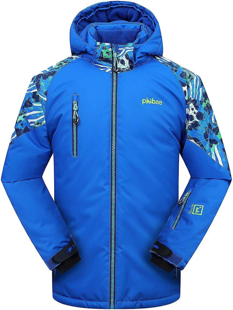 6444 Winter Kid Child Outdoor Fleece Jacket Boy Waterproof Hooded Coat Outerwear