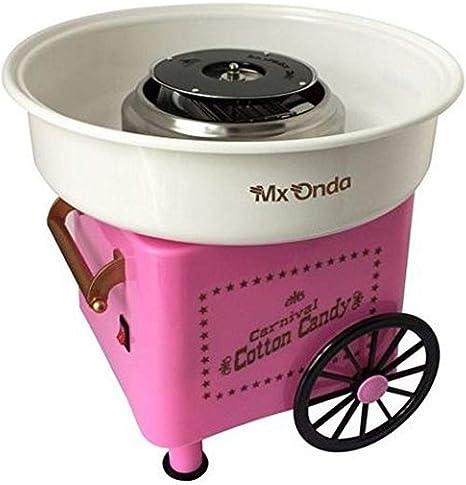 Mx Onda MX-AZ2765 - Máquina de algodón de azúcar, color rosa ...