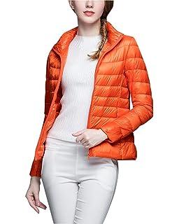ZhuiKun Donna Corto Giacche Piumino Cappotto Ultraleggeri Trapuntato  Packable Giacca Inverno 027301e6459