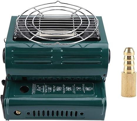 Estufa de Camping para Acampar, protección de Seguridad mutua portátil Calentadores de Gas para Exteriores Parrilla para cocinar Senderismo Estufas de ...