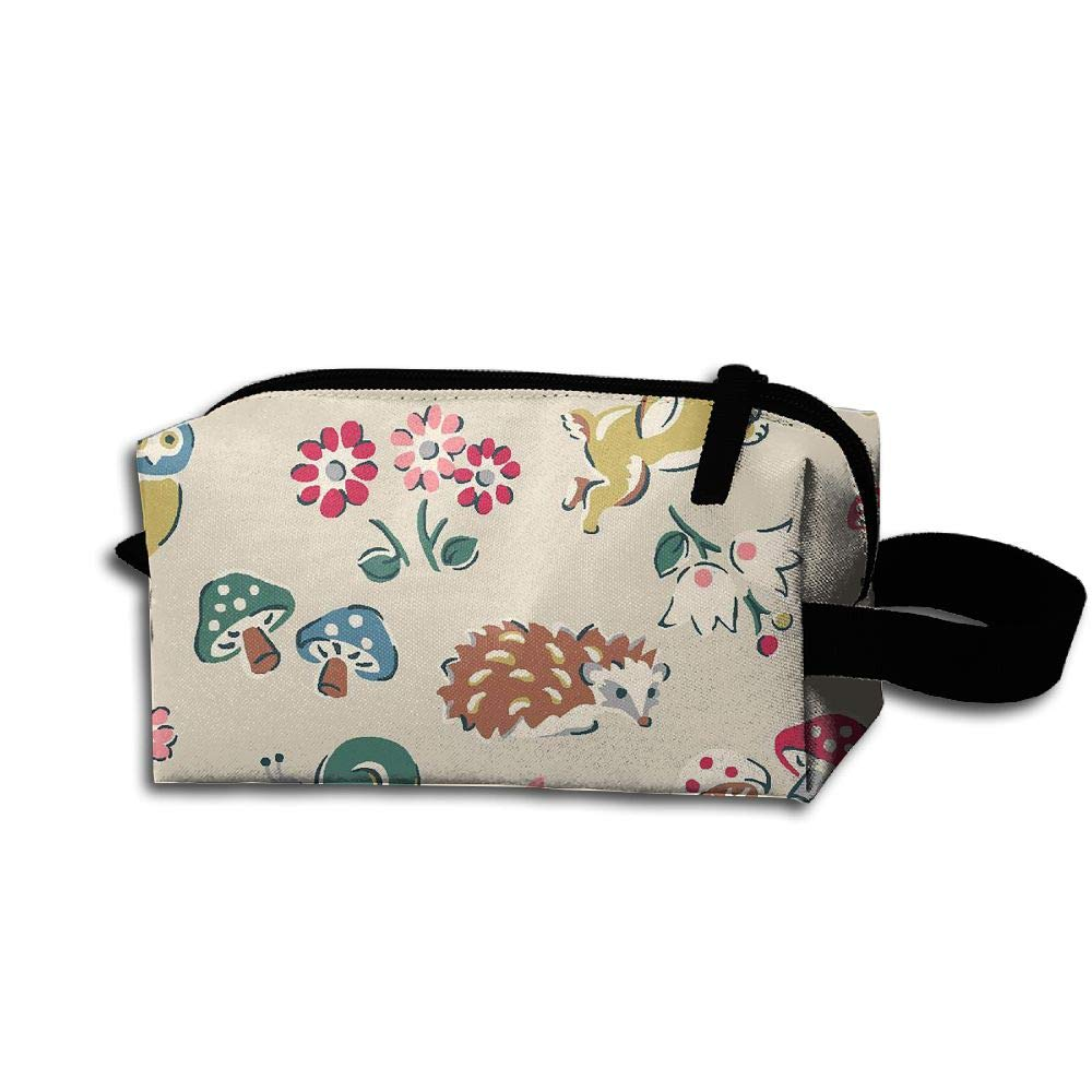 Makeup Cosmetic Bag Animal Birds Fox And Owl Medicine Bag Zip Travel Portable Storage Pouch For Mens Womens