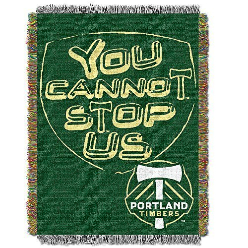 (MLS Portland Timbers Handmade Woven Tapestry Throw, 48