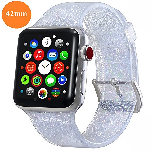 Libra Gemini Sport Band Compatible for Apple Watch 42mm 44mm, Soft Silicone Sport Strap Replacement Bands Compatible for iWatch Apple Watch Series4/3/2/1