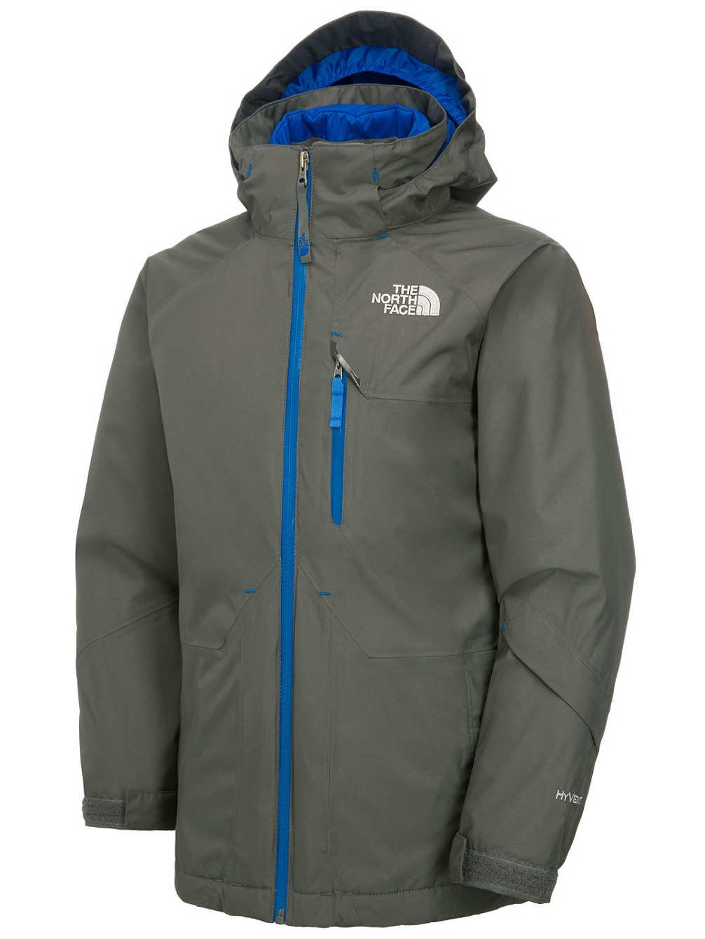 wholesale dealer 07816 08f0a The North Face Boy's Ozone Triclimate Jacket - Graphite Grey ...