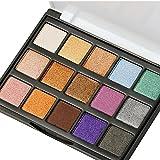 Image of Eyeshadow Makeup Palette, DE'LANCI Travel15 Colors Shimmer & Giltter Cosmetic Eye Shadows Mini Makeup Pallet