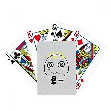 Mareo negro Cute Chat Emoji patrón poker juego de cartas de ...