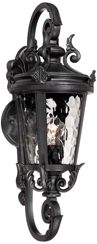 Casa Marseille 19'' High Black Outdoor Wall Light