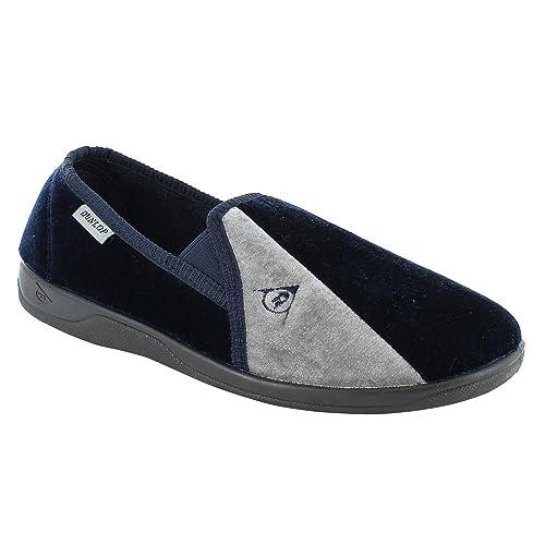 Dunlop - Zapatillas de estar por casa de sintético para hombre, color azul, talla 44: Amazon.es: Zapatos y complementos