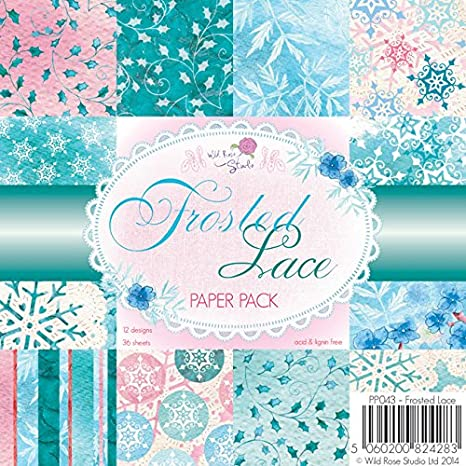 """Paper Pack 6x6/"""" Winter Bauble Papers Wild Rose Studio 12 Designs 36 Sheets"""