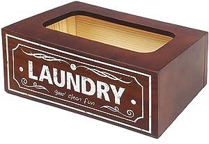 UCUDI Dryer Sheets Dispenser Cover Laundry Softener Dispenser Holder Box Farmhouse Laundry Room Wall Art Decor