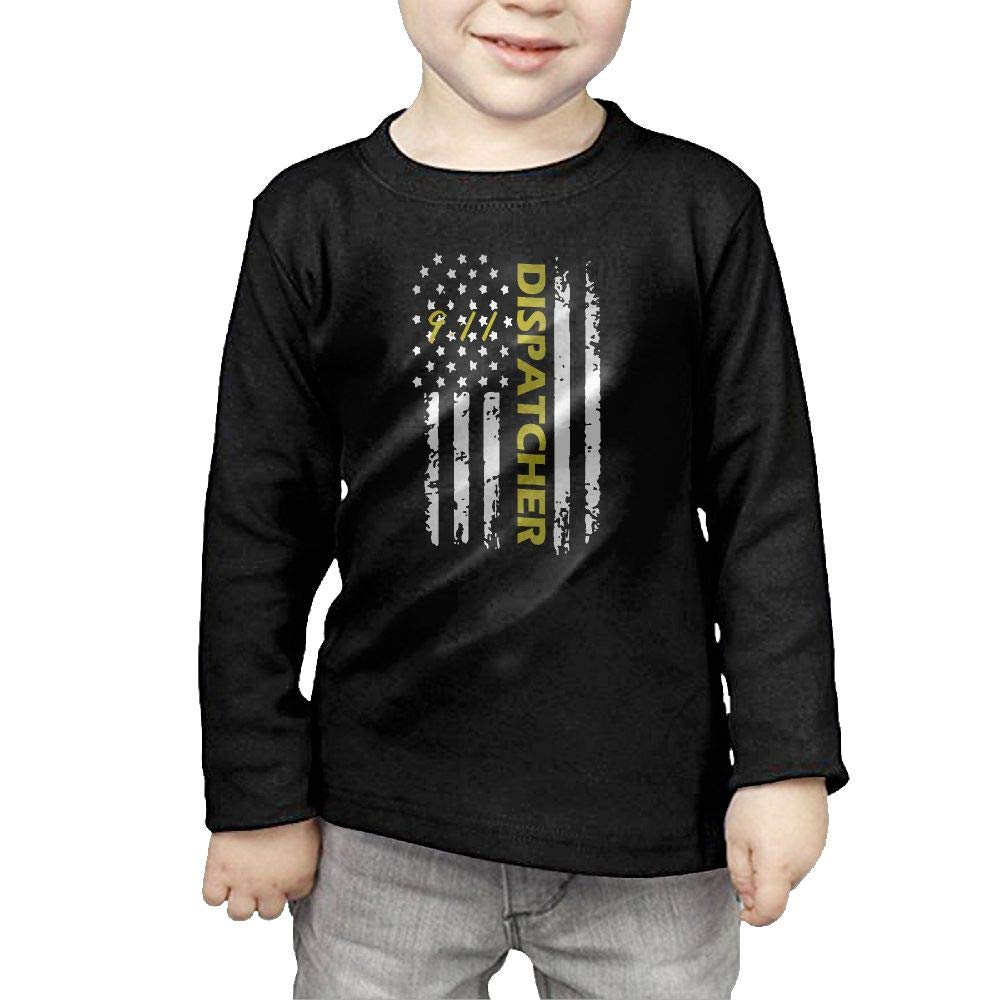 Fryhyu8 Baby Girls Childrens 911 Dispatcher Printed Long Sleeve 100/% Cotton Infants T-Shirts