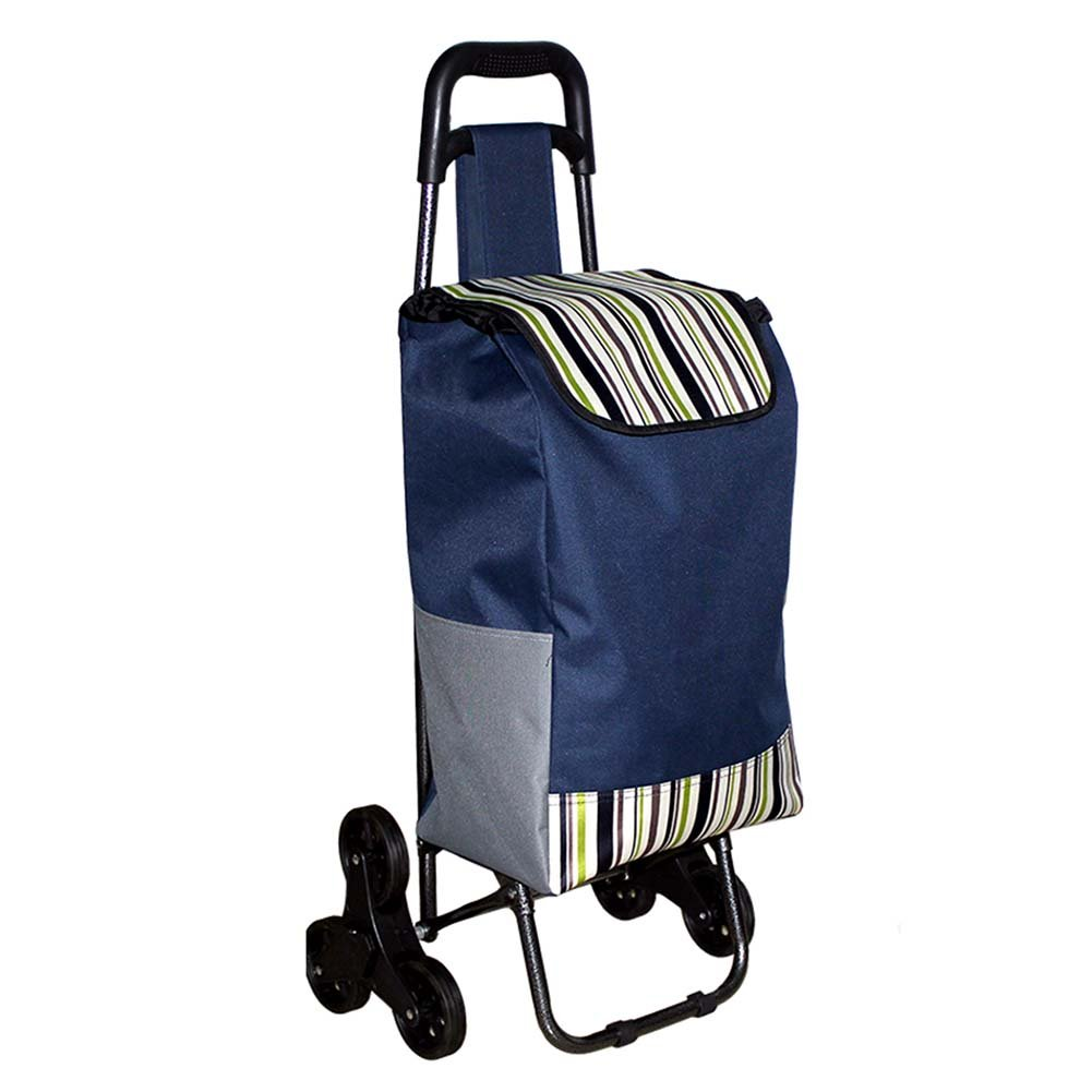 Fly 6-Wheel Shopping Cart Portable Shopping Cart Out Trolley Bag Trolley Luggage Trolley Trolley Aluminum Alloy Folding (Color : C)