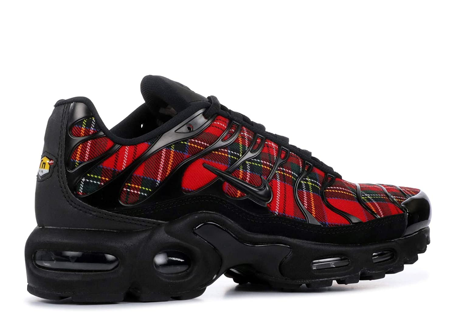 af7e820493 ... uk amazon nike womens wmns air max plus tn se black black university red  road running