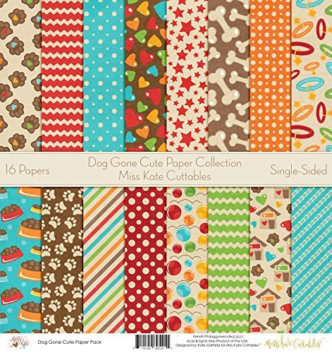 Pattern Paper Pack - Dog Gone Cute - Scrapbook Premium Specialty Paper Single-Sided 12