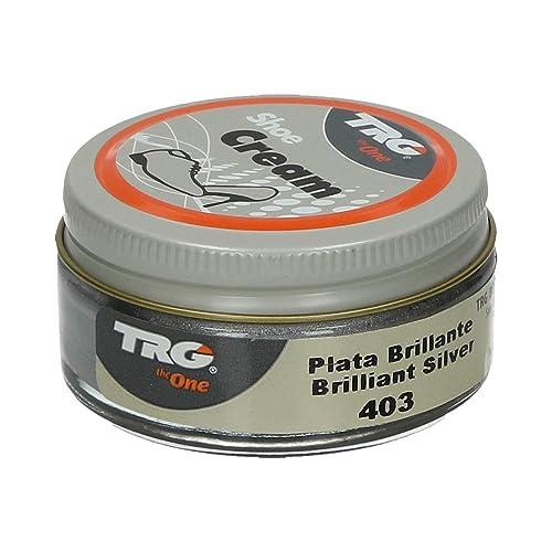 211416dfcf45 Amazon.com  TRG the One Metallic Shoe Cream 50ml  403 Brilliant Silver   Shoes