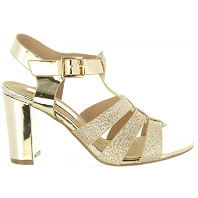 Xti 30615 Gold - Chaussures Sandale Femme