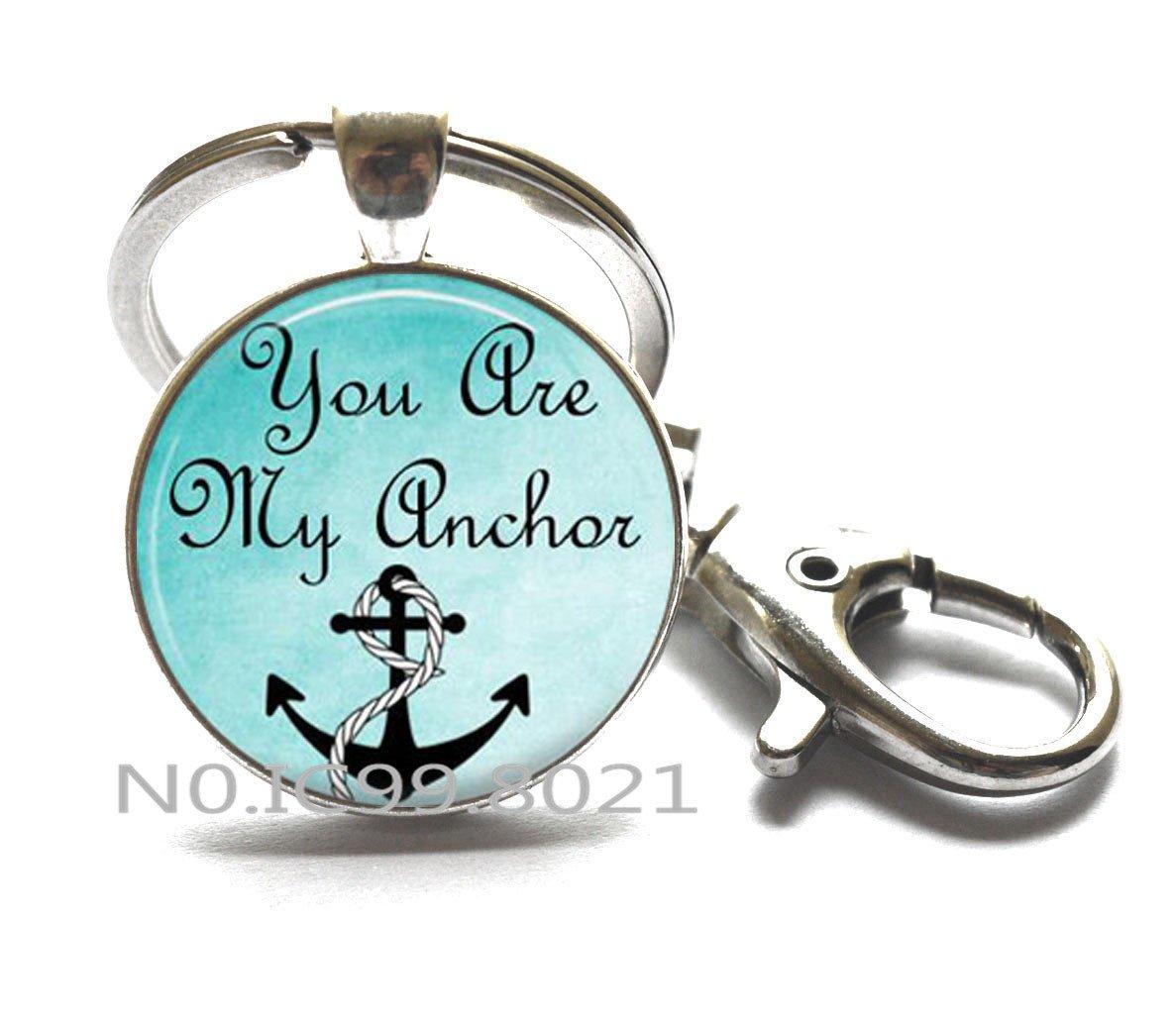 Amazon.com: Cita llavero, cita joyas, You Are My Anchor Cita ...