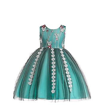 QSEFT Trajes De Boda para Niños Vestidos De Niños para Niñas Princesa  Hermosa Fiesta De Cumpleaños a8958fed91e