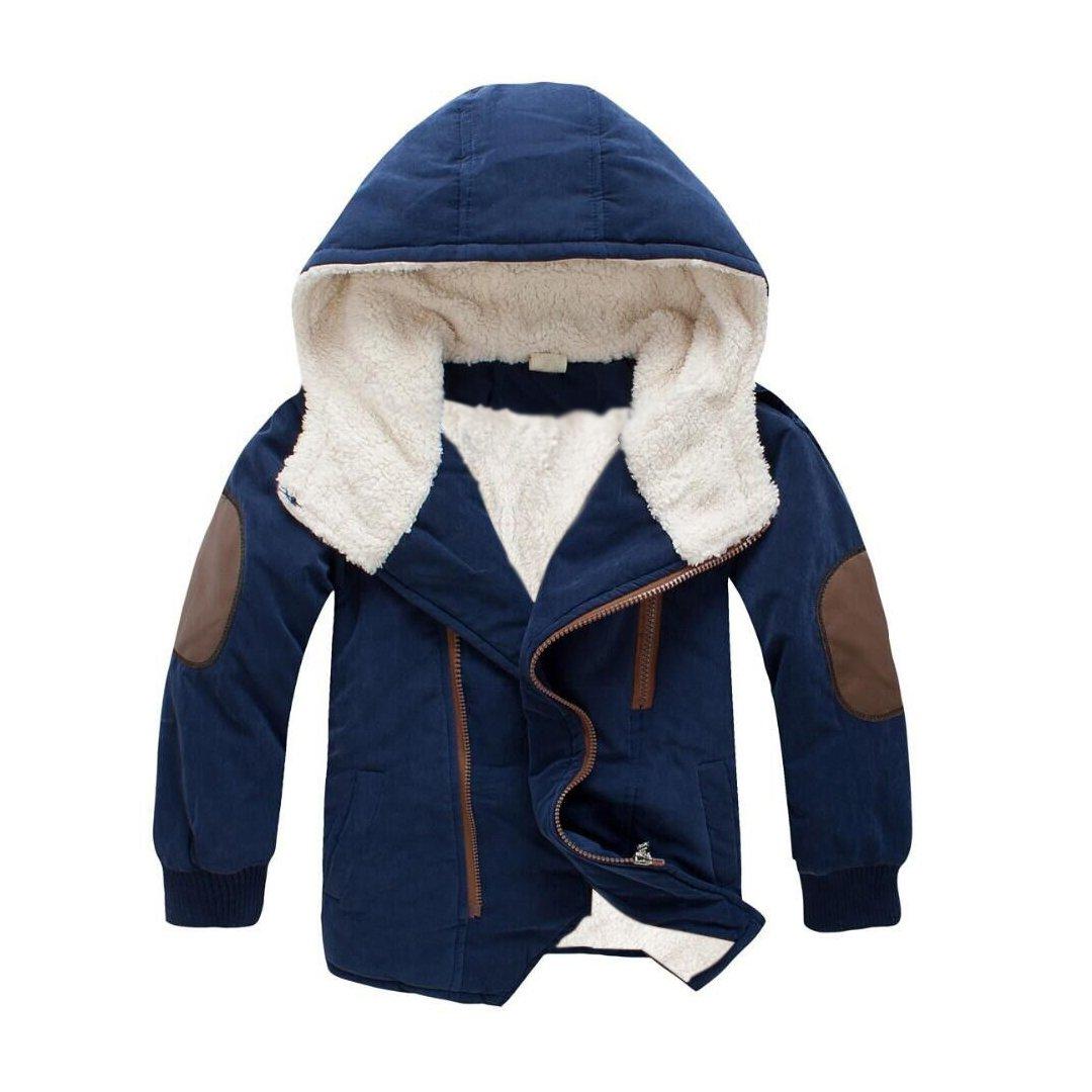 JIANLANPTT Pretty Boys Girls Winter Coat Kids Hoodies Fleece Jacket Outerwear