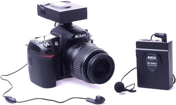 Boya by-WM5 2,4 GHz inalámbrico Lavalier micrófono para Canon ...