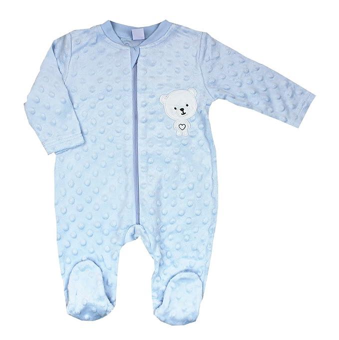 Pelele para bebé de manga larga,,cierre con corchetes en la entrepierna y delante