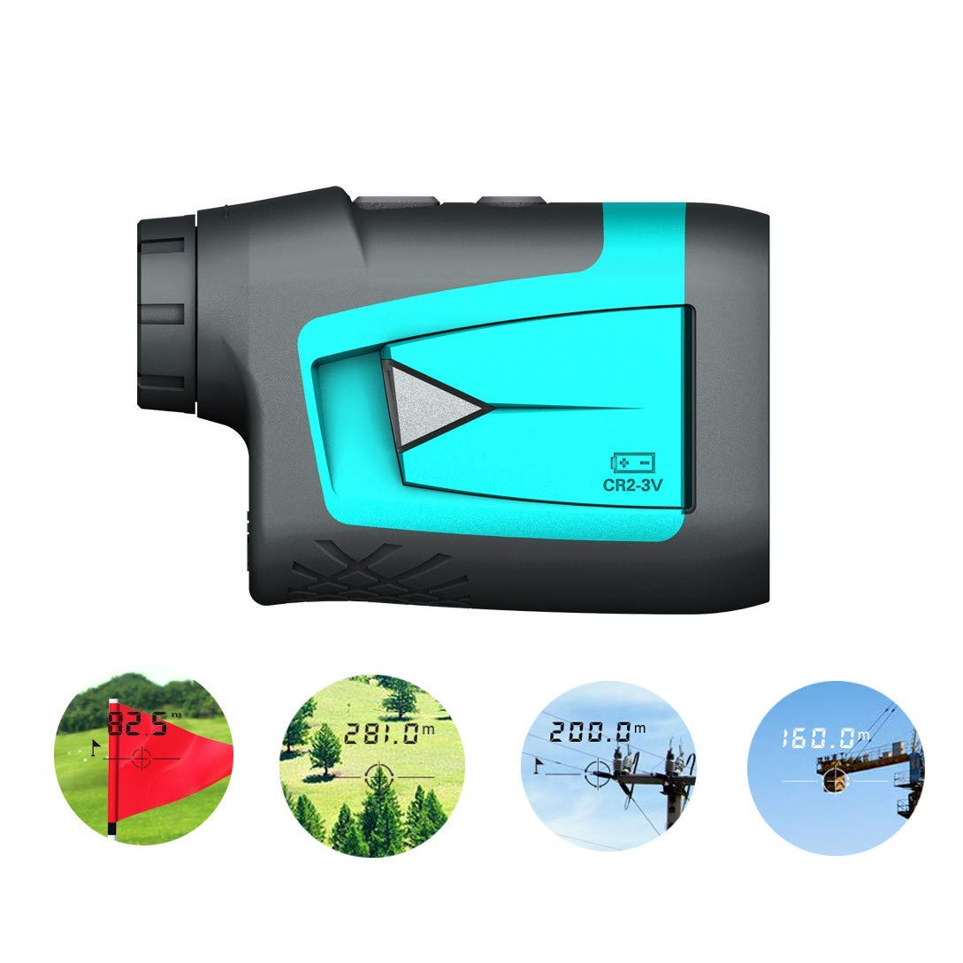 JGCJYYH Golf Rangefinder 600M Range Finder with Slope Compensation,Flag-Lock,Laser Measure,Continuous Scan,6X Magnification,Distance/Speed/Angle Measurement for Golf,Archery,Hunting by JGCJYYH
