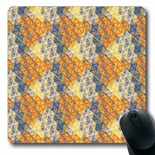 Classical Blends - Ahawoso Mousepads Openwork Base Abstract Color New Artistic Blend Canvas Cells Classical Colored Design Oblong Shape 7.9 x 9.5 Inches Non-Slip Gaming Mouse Pad Rubber Oblong Mat
