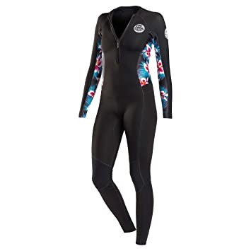 5c0852f799 RIP CURL Womens G-Bomb 2MM Front Zip Wetsuit Black Sub - Easy ...