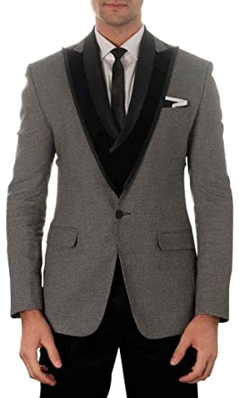 INMONARCH Hommes Gris 5 pc Incroyable Costume Smoking