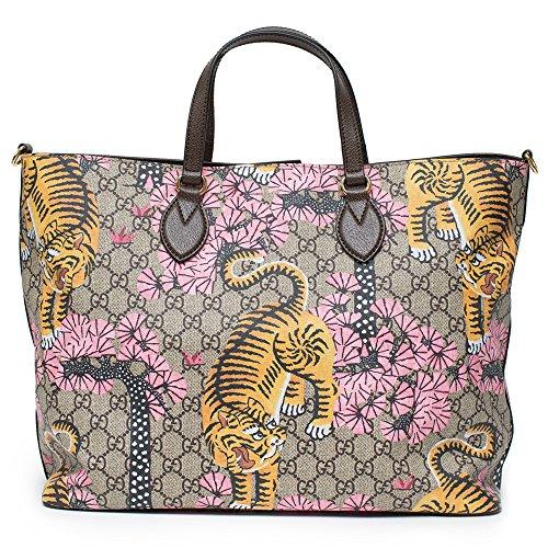 Amazon.com  Gucci Bengal Tote Pink Shoulder Mixed Tiger Fabric leather Handbag  Purse Bag New  Shoes 731c36ed1db50