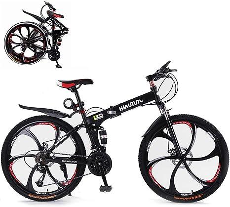 DNNAL Bicicleta de montaña, 26 Pulgadas 21 Bicicleta Plegable de ...