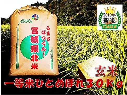 ひとめぼれ 宮城県産 2019年度産 玄米 30kg