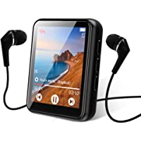 $33 » MP3 Player Bluetooth 5.0 Touch Screen Music Player 16GB Portable mp3 Player with Speakers…