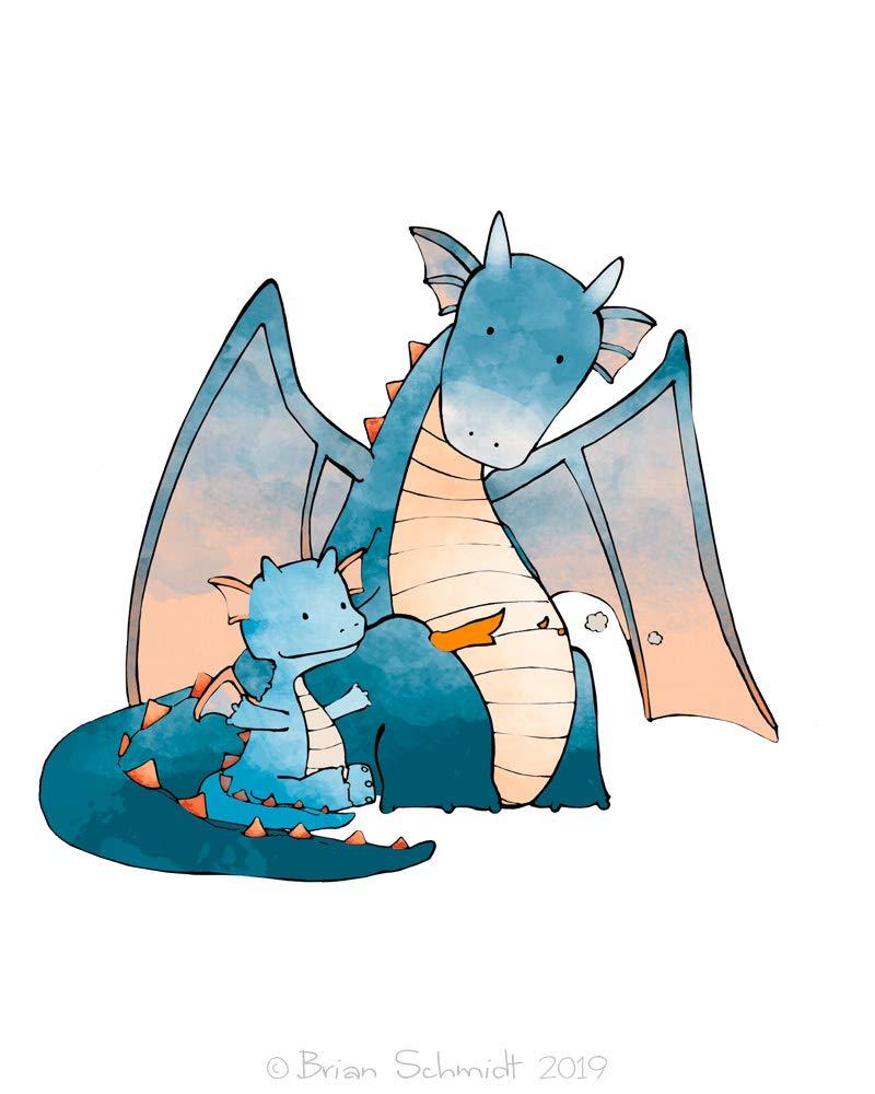 Amazon Com Baby Dragon Illustration Fantasy Drawing Dragon