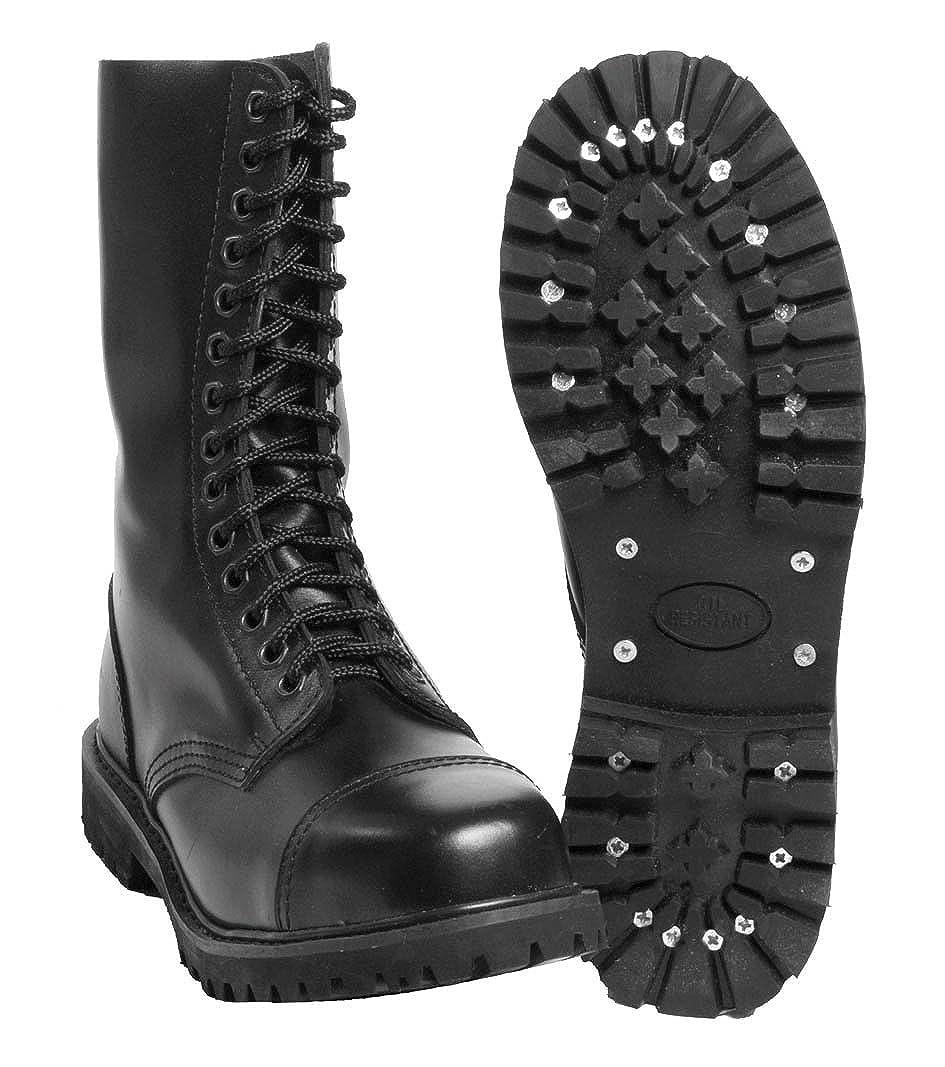 cd92dcd31a738a Mil-Tec - Invader 14 Loch Stiefel Boots Schwarz Stahlkappe Leder Schuhe  Ranger Größe 37 (GB 3)  Amazon.co.uk  Shoes   Bags