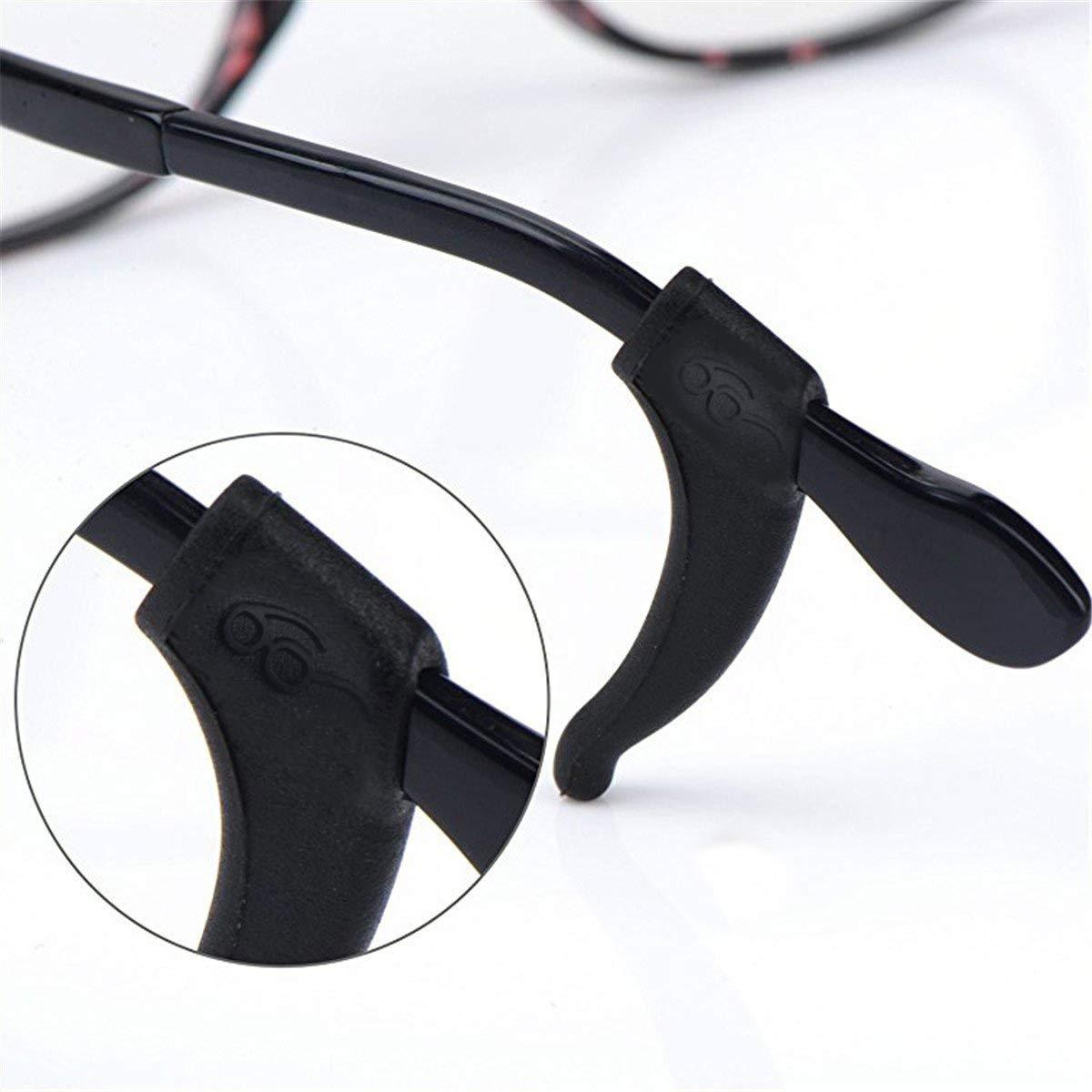 6 Paare Anti-Rutsch-Ohrb/ügel Silikon-Ohrb/ügel-Verschluss-Spitzenhalter-Griff f/ür Sonnenbrillen-Brillenbein-B/ügelspitze