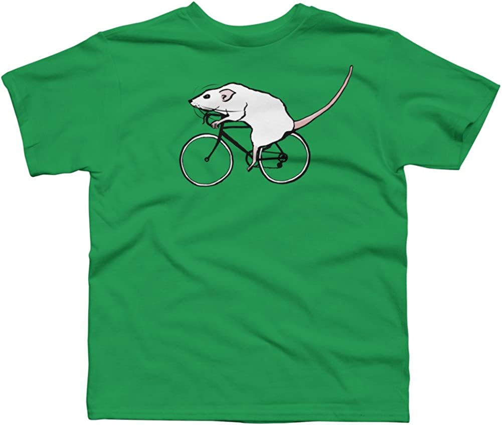 Design By Humans Cycling Rat Boys Youth Graphic T Shirt