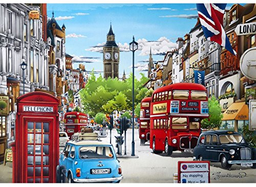 Wentworth SW1 Whitehall Wooden 250 Piece Jigsaw Puzzle 701205 9.8 Inches x 14.17 Inches