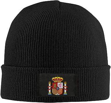 Royfox Unisex - Gorro de invierno cálido, gorro de punto, gorro de calavera, casco, gorro de invierno, bandera de España: Amazon.es: Ropa y accesorios