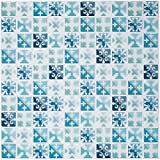 "Ecoart Peel and Stick Backsplash Tiles, Mosaic Decorative Tile Stickers 10"" X 10"" for Bathroom and Kitchen(6 Pack) (Blue Green)"