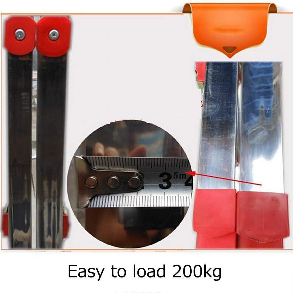 beweglicher Fu/ß Hocker Haushalt Convenient Gel/änder Treppen Hocker Trittleiter Trittschemel Folding Edelstahl 4 Stufenleiter Last 200kg Leiter